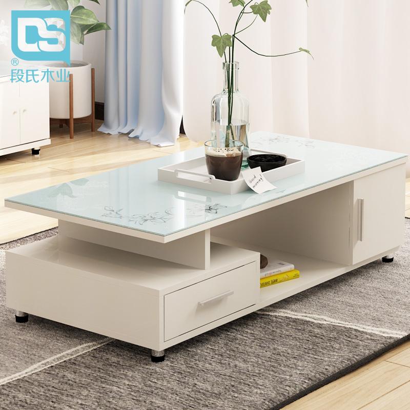 Модель клан кофейный столик закалённое стекло просто мода современный творческий небольшой квартира кофейный столик гостиная сочетание квадрат деревянный