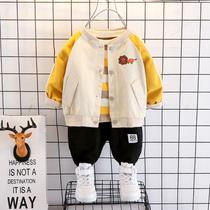 男童装宝宝春装套装2021新款1-3岁2衣服女儿童春秋洋气外套三件套