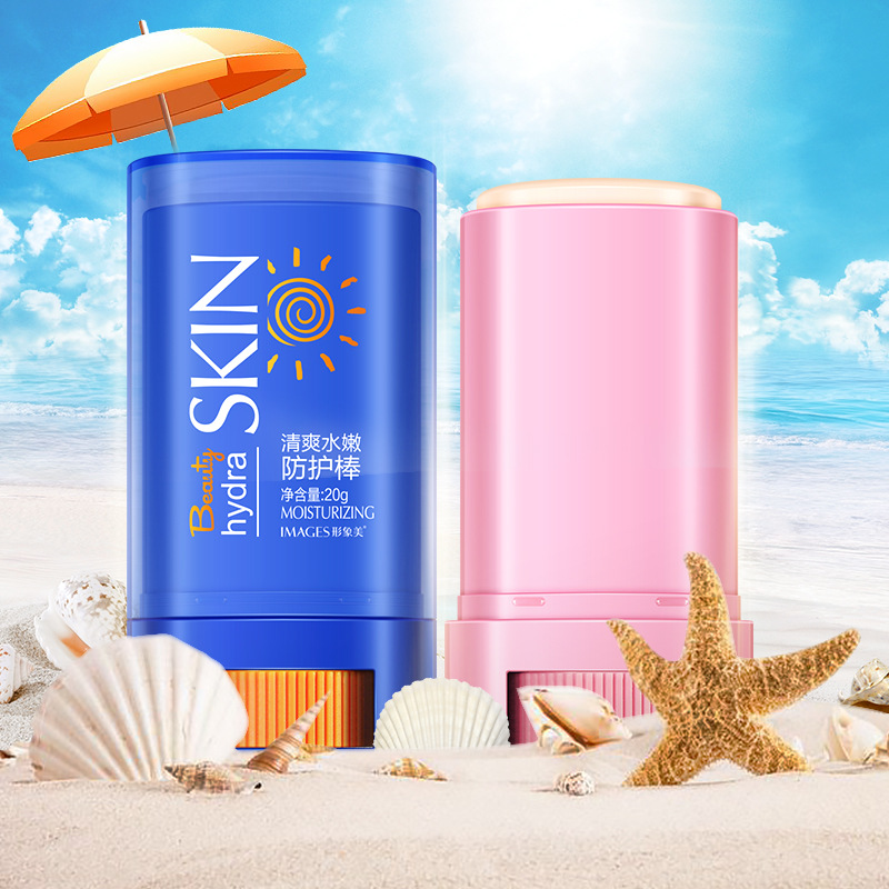 Fresh water and tender sunscreen stick moisturizing and refreshing and breathable sunscreen isolation bar color makeup