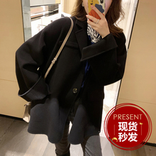 Mmco ◆ unpretentious and forthright quality woolen coat women's short loose double faced coat
