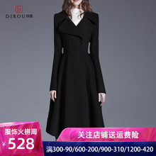 High end brand cashmere overcoat women's new autumn and winter 2019 woollen cloth coat slim fit, waist and long and thin