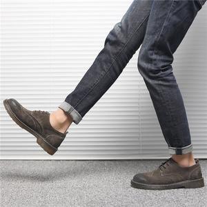 领5元券购买男士低帮潮韩版内增高英伦工装靴