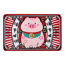 Fook Pig New Year festive mat Spring Festival Red Door mat door pad bedroom anti-skid carpet toilet bathroom suction water