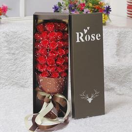 520情人节礼物送女友生日礼物仿真假花肥皂花香皂花礼盒玫瑰花束