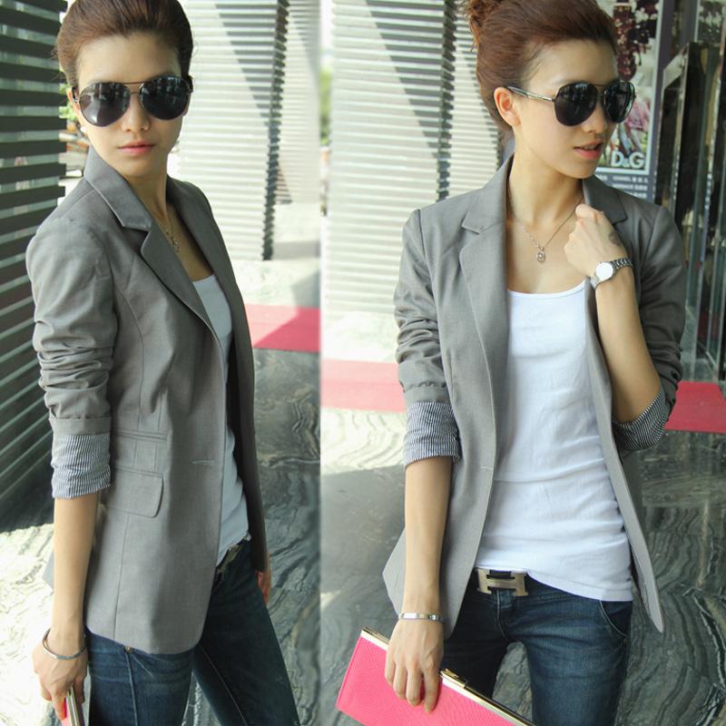 Aocho sugar 2019 spring and autumn ol Korean large size suit coat womens interview dress medium long stripe slim dress