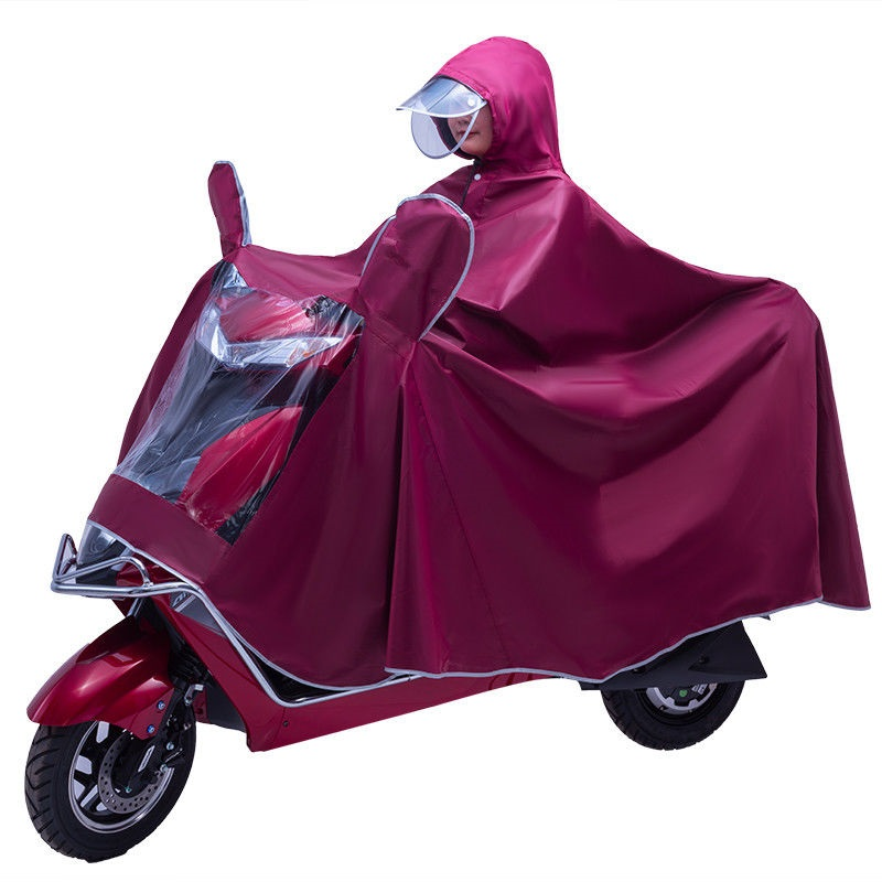 Increase the protection of men riding electric motorcycles, increase the general poncho for adults and men, and increase the single and double raincoat
