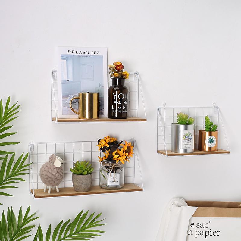 创意ins家居墙上置物架搁板免打孔壁挂收纳架现代简约墙壁装