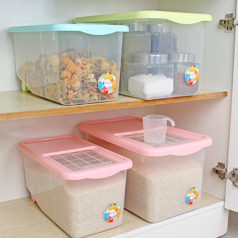 沃德百惠米桶儲米箱10kg米麵收納箱防蟲麵粉桶儲麵塑料米盒子米缸