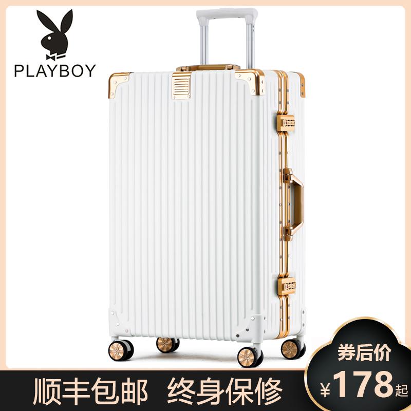 花花公子行李箱拉杆箱女24寸男万向轮旅行26密码20登机皮箱子耐用