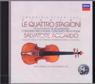 现货【中图音像】维瓦尔第-名琴四季CD 阿卡多小提琴 4220652