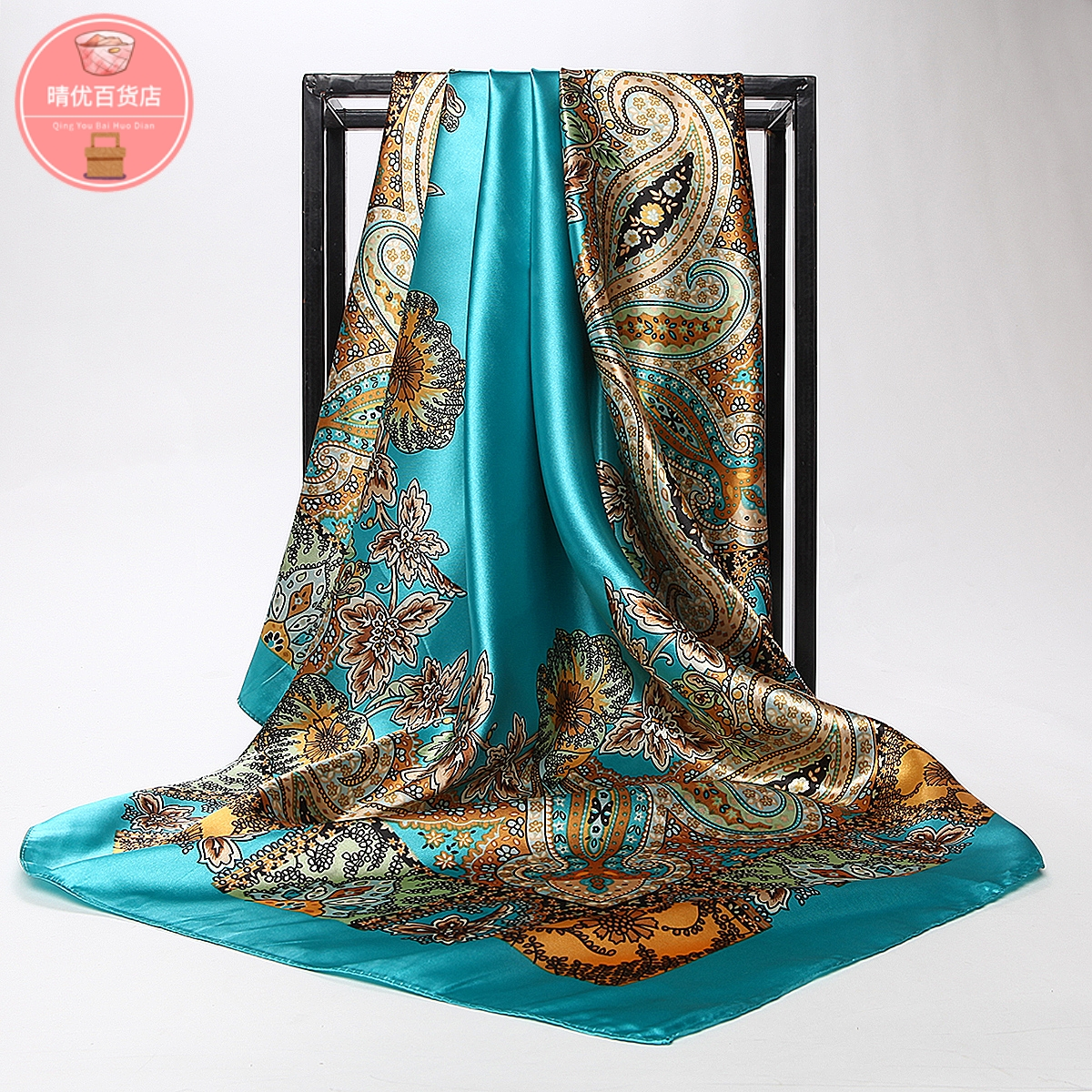 Direct sale of 90 square scarves of Hangzhou silk by overseas gift giving manufacturers