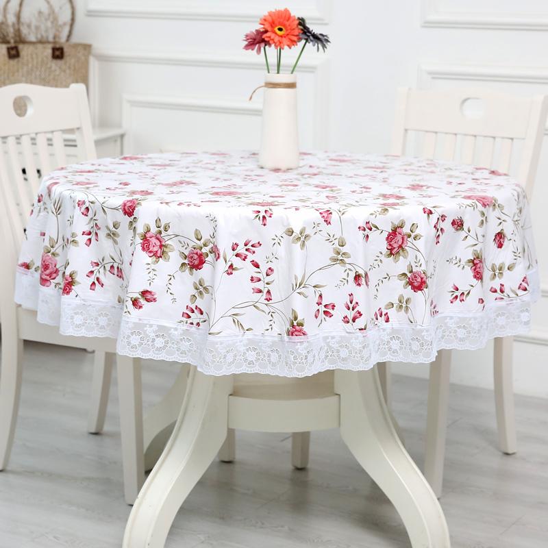 加厚圆桌布环保加绒塑料大圆形餐桌布圆台布PVC桌布防水防油免洗优惠券