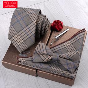 礼服五件套结婚商务休闲新郎棉领带