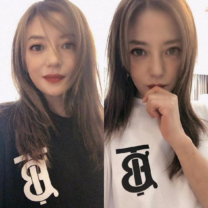 明星同款网红潮牌TB字母白色短袖t恤女宽松韩版中长款半袖体恤衫