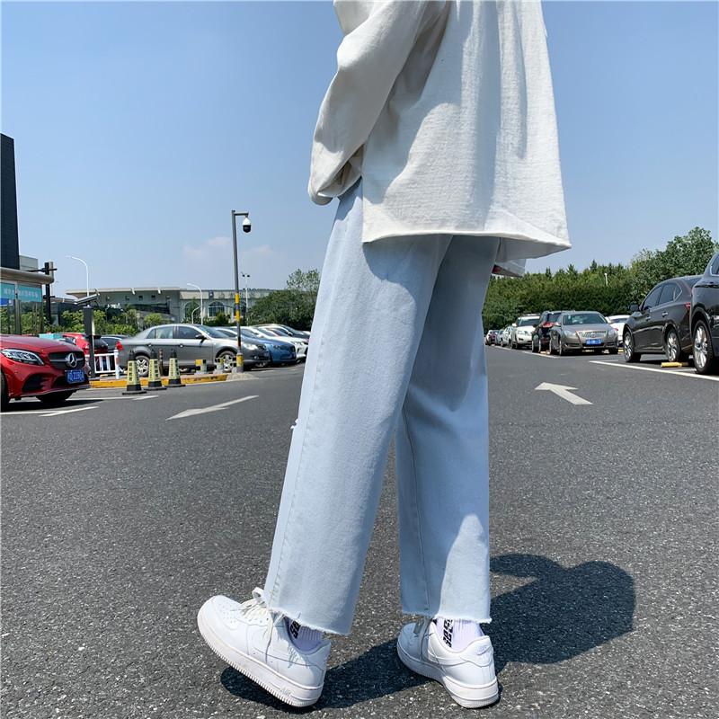 男款新款港风精品牛仔裤破洞休闲女裤子714-2-x910-p45
