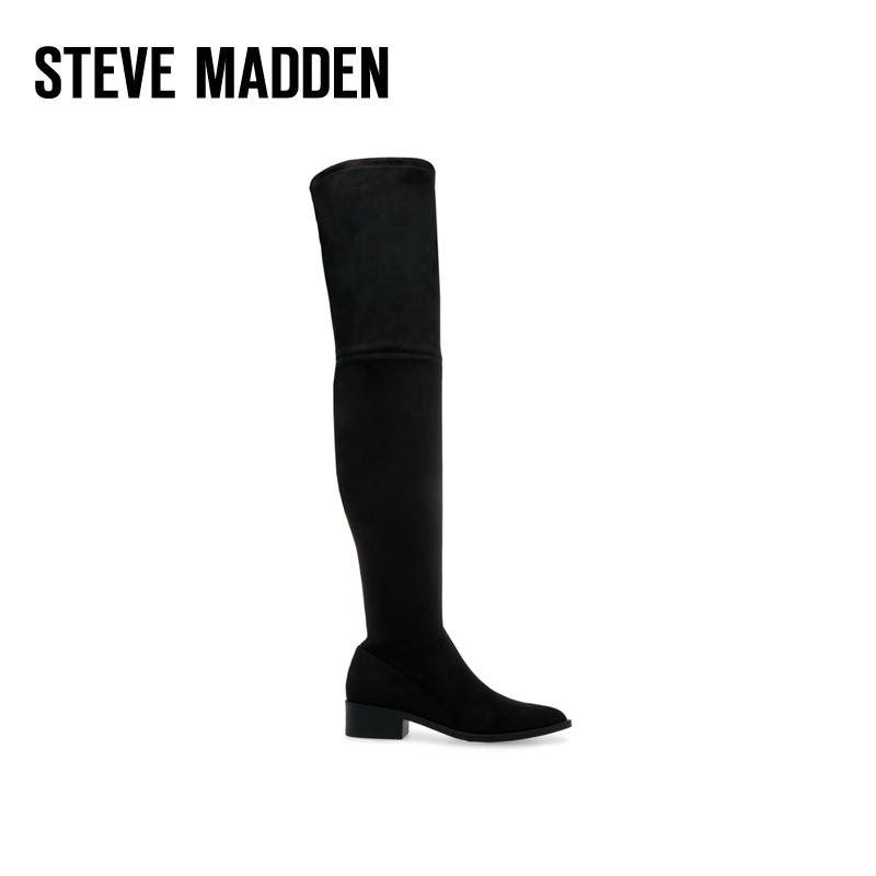 Steve Madden/思美登秋冬新款欧美女鞋长筒靴过膝靴粗跟 JODY
