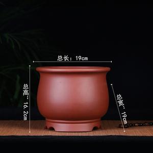 宜兴紫砂花盆 盆景盆 兰花盆 精品圆盆 高档桌面紫砂花盆