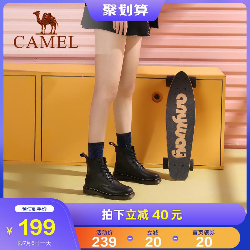 骆驼2020秋季新款百搭粗跟女鞋