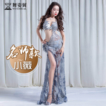 Dance Wing Belly Dance show clothing 2018 new autumn and winter high-grade sexy long skirt set female 2966