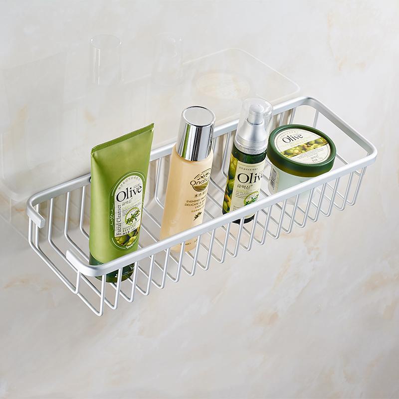 歐文 太空鋁 衛浴 掛件 浴室置物架 方形角架 單層加深網籃