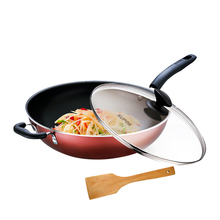 Household frying pan 32cm flat-bottomed non-sticking pan gas stove is suitable for wood shovel