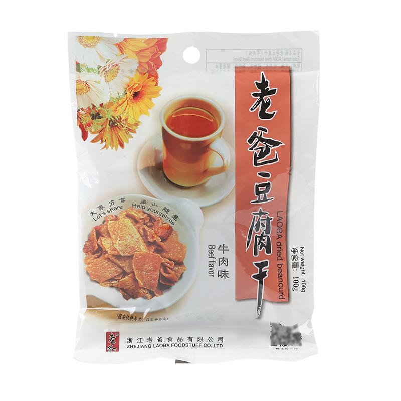 老爸豆腐干香干豆干(牛肉味)100g/包