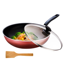Supol non-stick pan frying pan Household non-stick pan frying pan 30 cm gas gas stove open fire special wood shovel