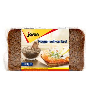 德国进口捷森Jason黑麦面包500g全麦低脂谷物粗粮健身饱腹代餐