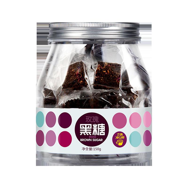 【天猫超市】虎标玫瑰黑糖古法老红糖块150g玫瑰香姜母花茶