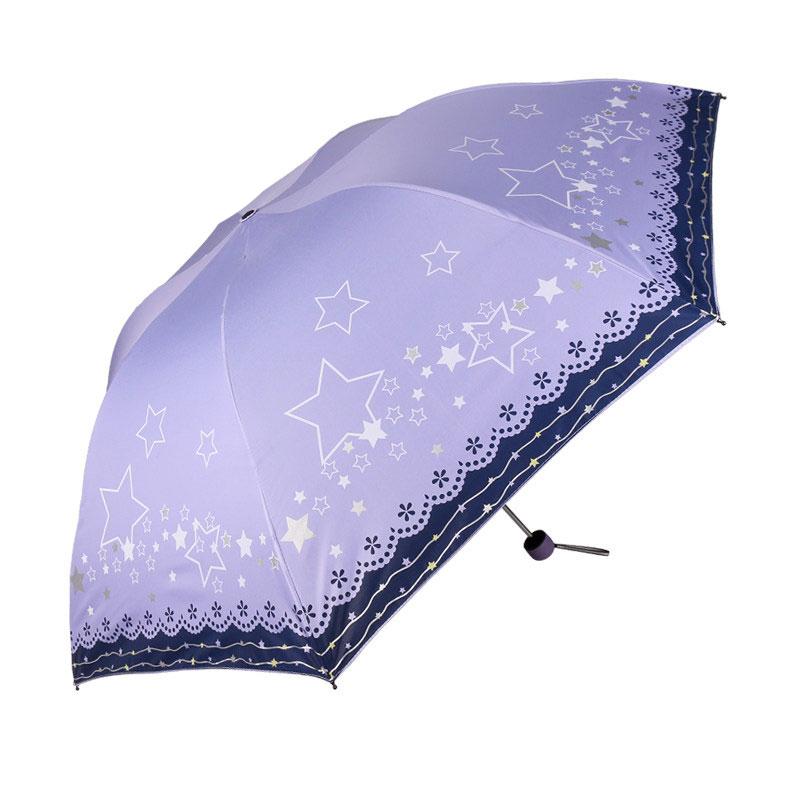 Небо зонт арматура универсальный черный пластиковые вс зонтик защита от ультрафиолетовых лучей складной карандаш при любой погоде двойной зонт