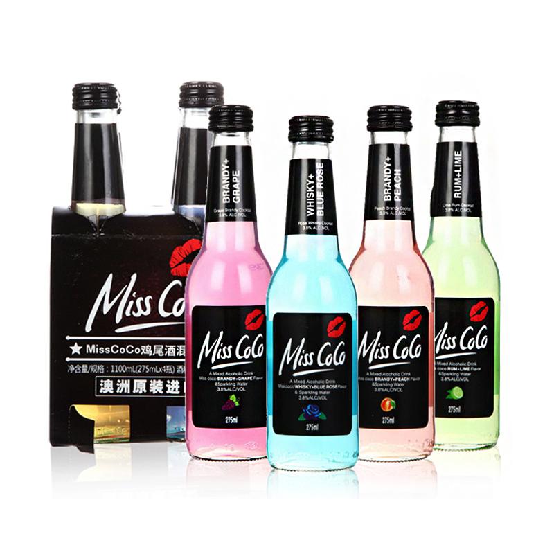 ~天貓超市~澳大利亞 MISS COCO 預調雞尾酒混合裝275ml^~4