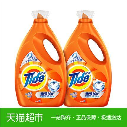 汰渍全效洗衣液促销组合装3kg*2香味持久机洗正品洗衣护理