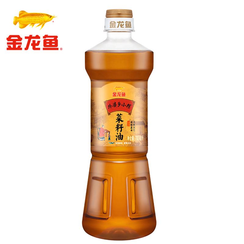~天貓超市~金龍魚 外婆鄉小榨菜籽油700ml 食用油 非轉壓榨
