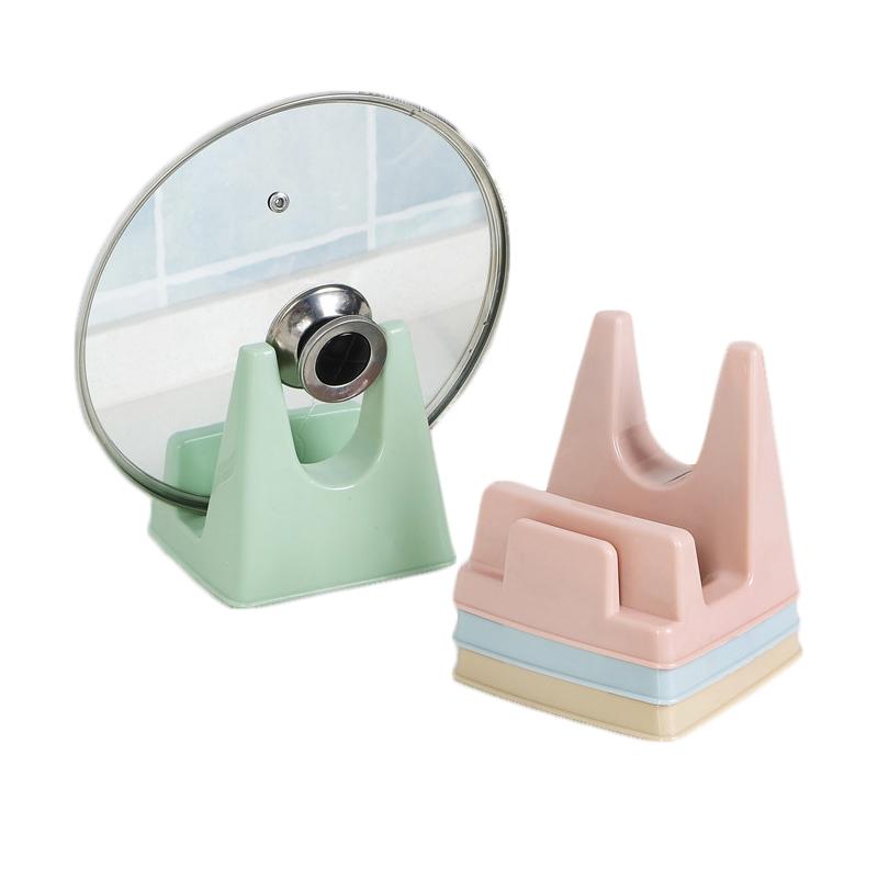 厨房免打孔多功能菜板架  塑料锅盖架家用案板架子