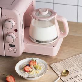小熊早餐机多功能电烤箱烤面包机电暖壶多士炉三合一早餐神器家用图片