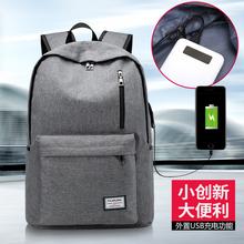 新款 新图 USB充电接口大容量双肩包布包    1711#