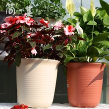 Alice Flower Pot Resin Round Medium Pot Green Lotus Meat Pot Imitated Ceramic Alice Plastic Gallon Indoor Flower Pot