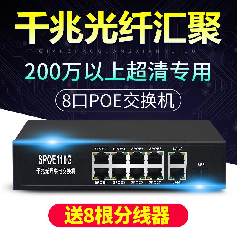 8 рот POE платить изменение машинально тысяча триллион 1 свет хорошо уровень присоединиться SPOE питание от 200W ультра-прозрачное монитор камеры
