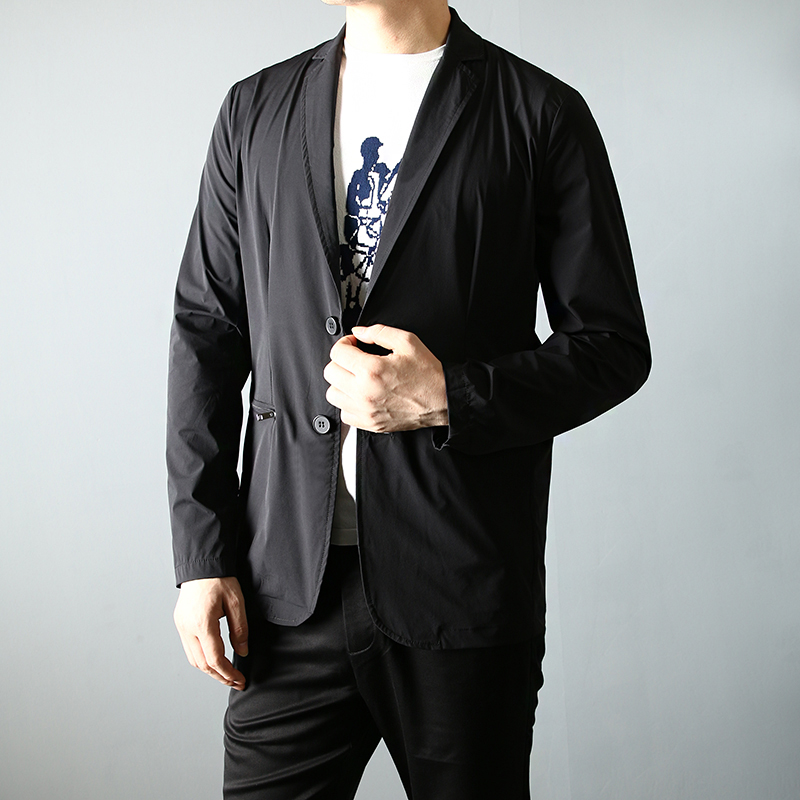 [special price every day] summer stretch mens British single Western slim suit suit suits mens ultra thin casual suits