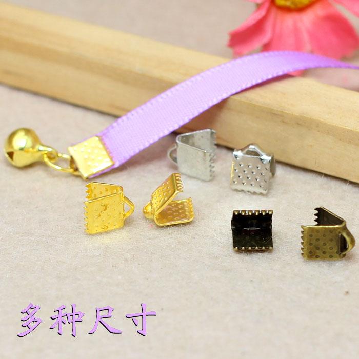 手工diy发簪头饰配件材料马仔马夹扣丝带扣6-25mm COS古风 材料包