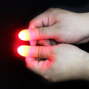 大卫舞台魔术道具 高亮拇指灯 光能舞动 手指灯 拇指套亮灯 神奇