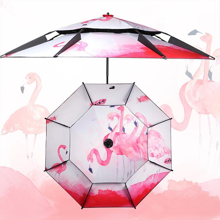 钓鱼伞 2.2米2.4米防晒垂钓双层万向折叠加厚伞江南钓者户外渔具