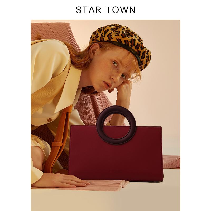 STARTOWN小众设计包包女2019新款手提包斜挎女包新娘红色结婚包图片