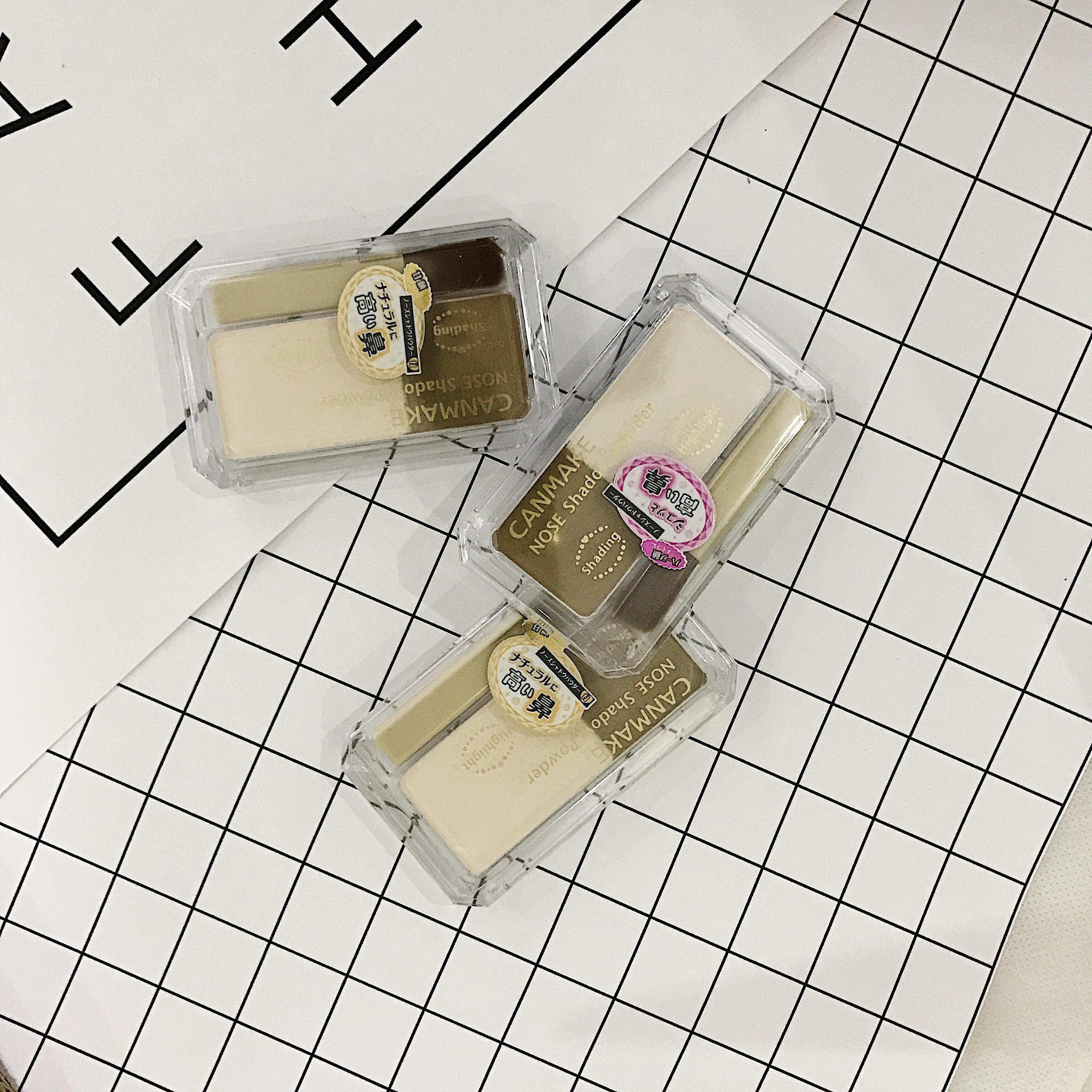日本CANMAKE井田立体双色修容粉饼鼻侧影阴影高光粉修颜盘 包邮