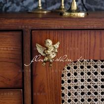 【小天使把手&壁挂】故我今我 黄铜 墙饰 柜门拉手