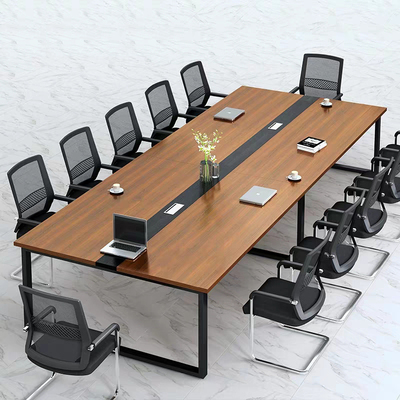 Office furniture, bar conference table, long table, simple modern meeting room, staff training table, desk and chair combination