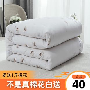 定做 新疆棉花被子单人双人被加大学生被1.5米棉被芯床垫春秋冬季