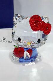 代购 施华洛世奇Hello Kitty红苹果日本猫水晶 5400144摆件图片