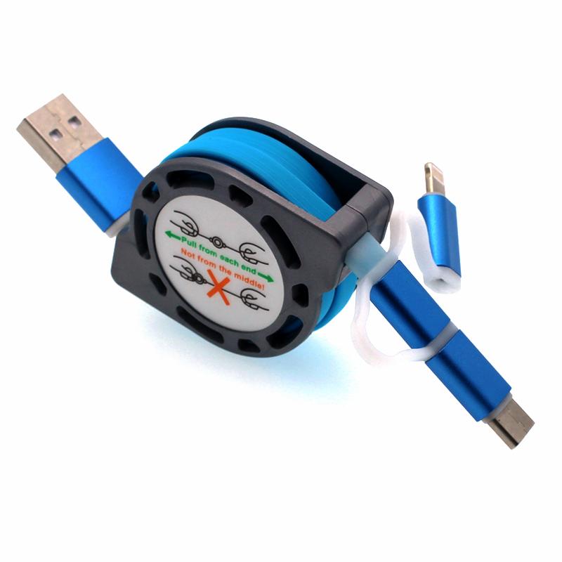 Type-c數據線三合一華為p9伸縮手機多用多頭一拖三多功能充電器