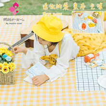 Large machine washable outdoor picnic mat thickened portable moisture-proof mat waterproof picnic cloth
